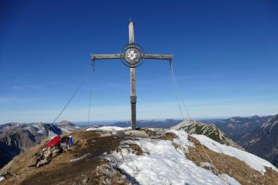 Das Gipfelkreuz der Seebergspitze