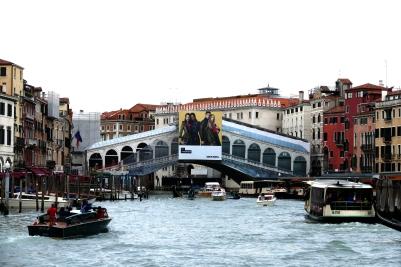 Die Baustelle gewordene Romantik - Rialtobrücke