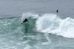 Surfer am weltberühmten Lighthouse-Spot.