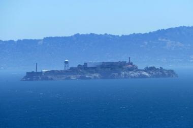 Foggy Blick nach Alcatraz