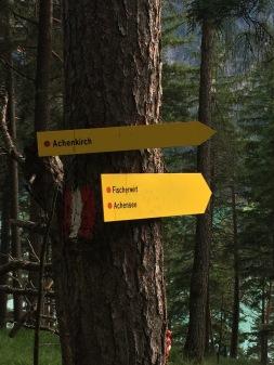 Wichtig, beim Abstieg IMMER dem Schild Achenkirch folgen.