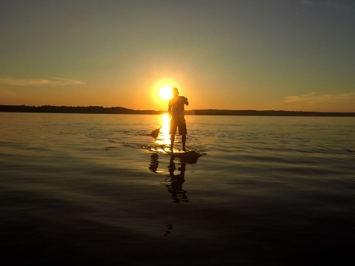 Sundowner-Selfie am Starnberger See (Versuch 118)