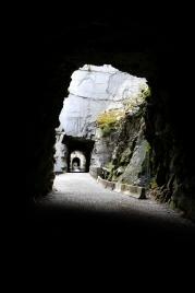 Blick durch die Tunnel.