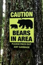 Achtung Bären; kennt man ja...