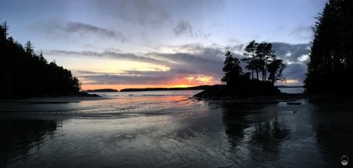oder Middle Beach bei Sonnenuntergang.