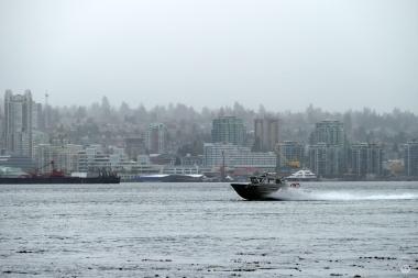 Selbst der Northshore verschwindet fast im Nebel...