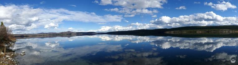 Ebenso wie der kurze Stop am Puntzi Lake - leider sind die ca. 300 Pelikanpaare schon weg.