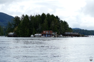 ...an den bewohnten Mini-Inseln...