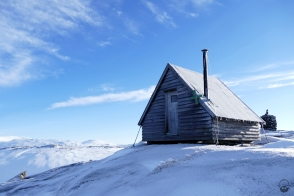 ...nach oben, zur Gipfelhütte des Klumpliklumpen
