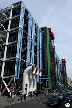 Gerade noch am Horizont, das Centre Pompidou.