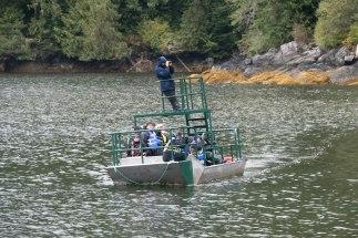 """Und Umstieg in die besagten """"Flachwasser-Boote""""."""