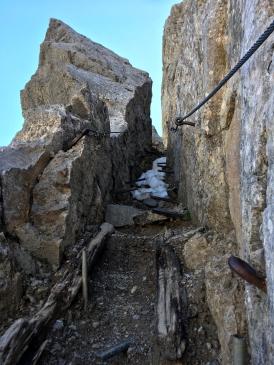Der Kamin - hier braucht man evtl. ein bisschen Kraft, aber eben nicht lang.