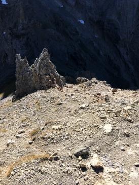 Der rutschige Abstieg zum Gamsanger.