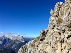 Rückblick auf eine der Abstiegs-Leitern aus dem ersten Segment.