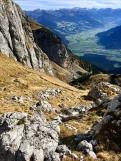 Aufstieg zum Krahnsattel - im Hintergrund erneut das Zillertal.