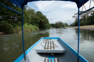 Auf dem Rio Carlos in Richtung Nicaragua.