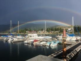 Zurück in Sechelt mit grandiosem Double-Rainbow Finale.