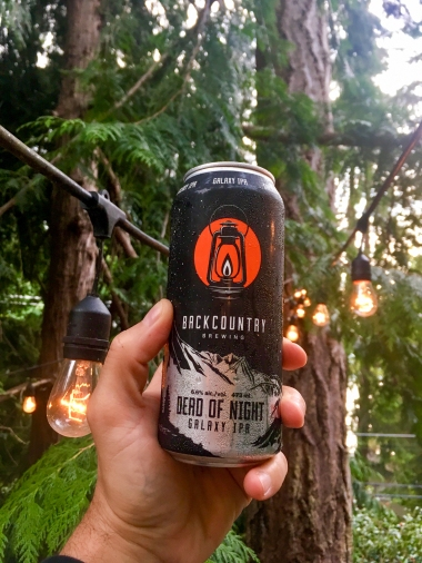 ...und das verdiente After-Hike Bier (Backcountry Brewery ♥︎)